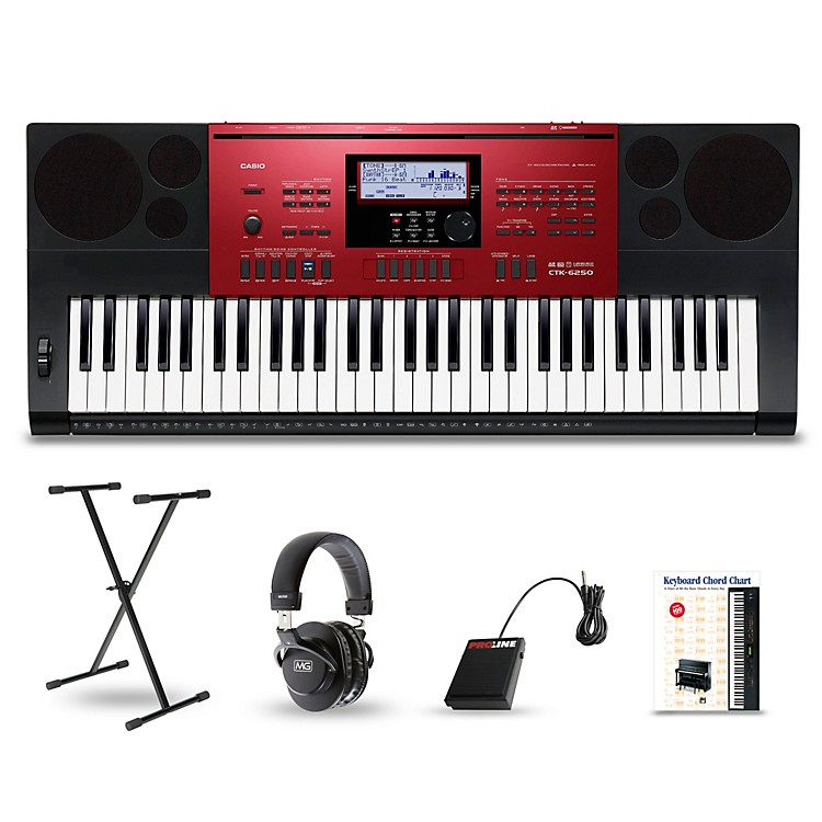 CasioCTK-6250 61-Key Portable Keyboard PackageEssentials