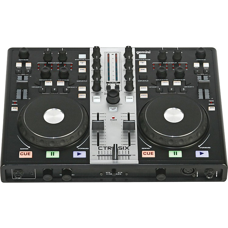 Gemini CTRL-SIX USB DJ Mixer/Controller with Audio Interface