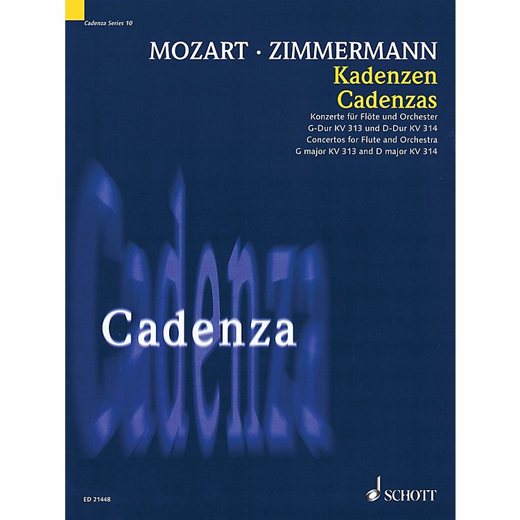 SchottCadenzas - Concertos for Flute and Orchestra, G Major KV313 and D Major KV314 Woodwind Series Softcover