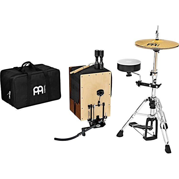 MeinlCajon Drum Set with Cymbals and Direct-Drive Pedal