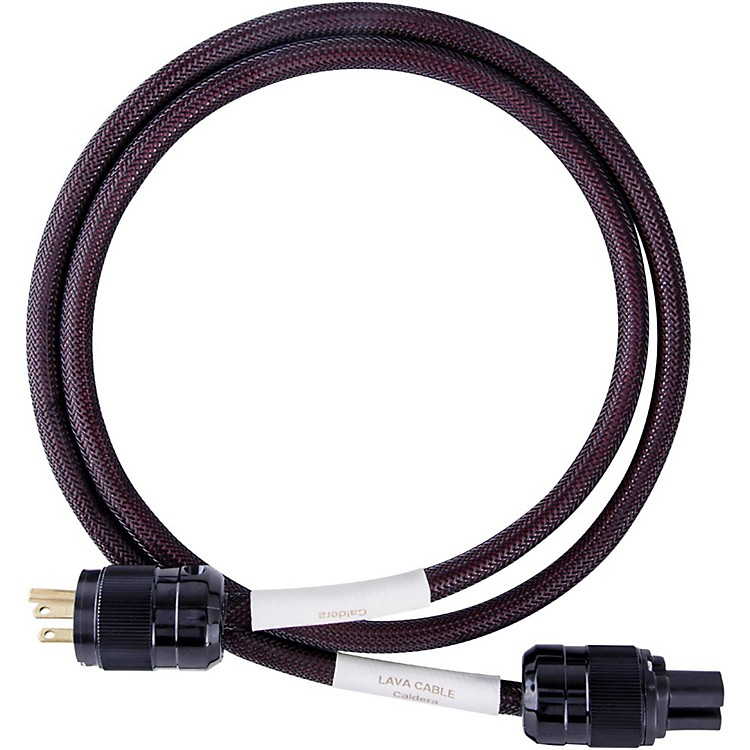 Lava Caldera Power Cord w/ Wattgate IEC320/Straight Blade 6 ft. Black