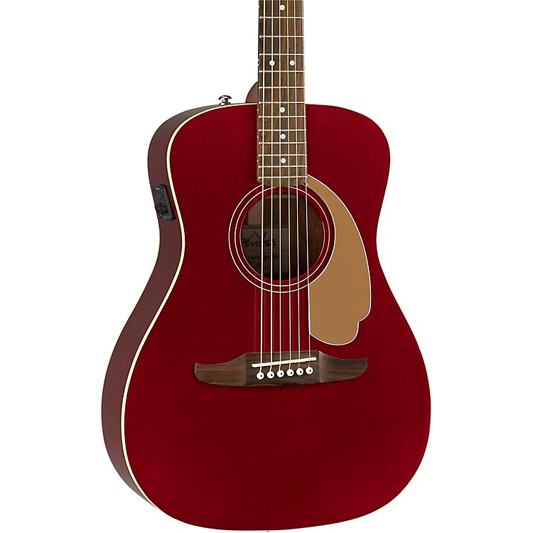 Fender California Malibu Player Acoustic-Electric Guitar Candy Apple Red