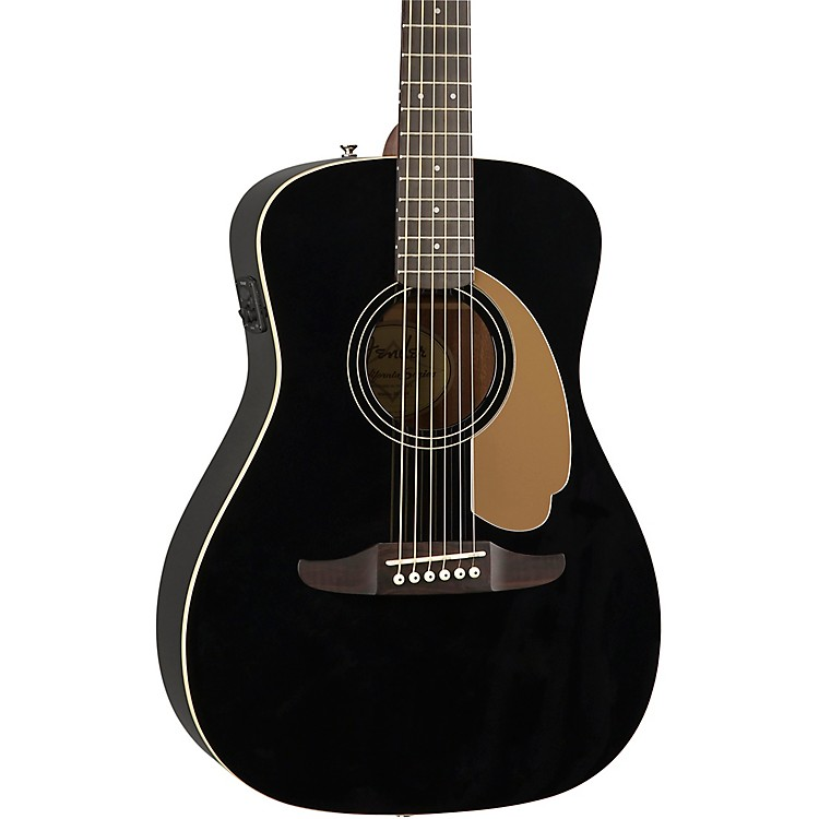 Fender California Malibu Player Acoustic-Electric Guitar Jetty Black