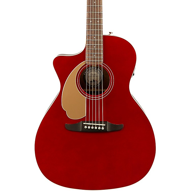 FenderCalifornia Newport Player Left-Handed Acoustic-Electric GuitarCandy Apple Red
