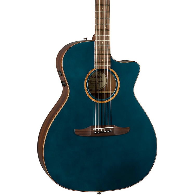 Fender California Newporter Classic Acoustic-Electric Guitar Cosmic Turquoise