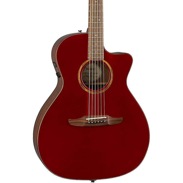 Fender California Newporter Classic Acoustic-Electric Guitar Hot Rod Red Metallic