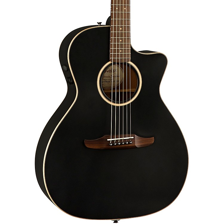 Fender California Newporter Special Acoustic-Electric Guitar Matte Black