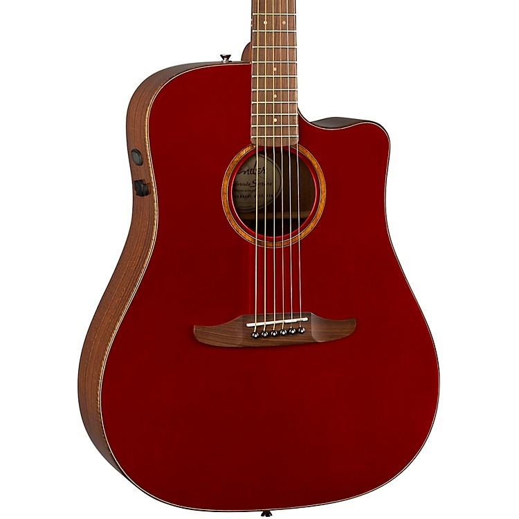 Fender California Redondo Classic Acoustic-Electric Guitar Hot Rod Red Metallic