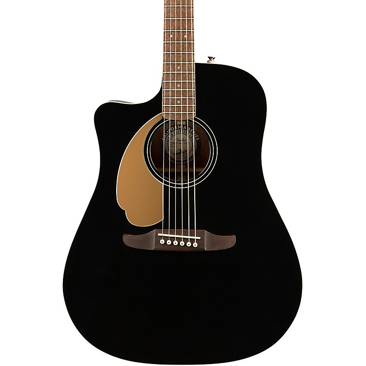 fender california redondo player left handed acoustic electric guitar jetty black music123. Black Bedroom Furniture Sets. Home Design Ideas