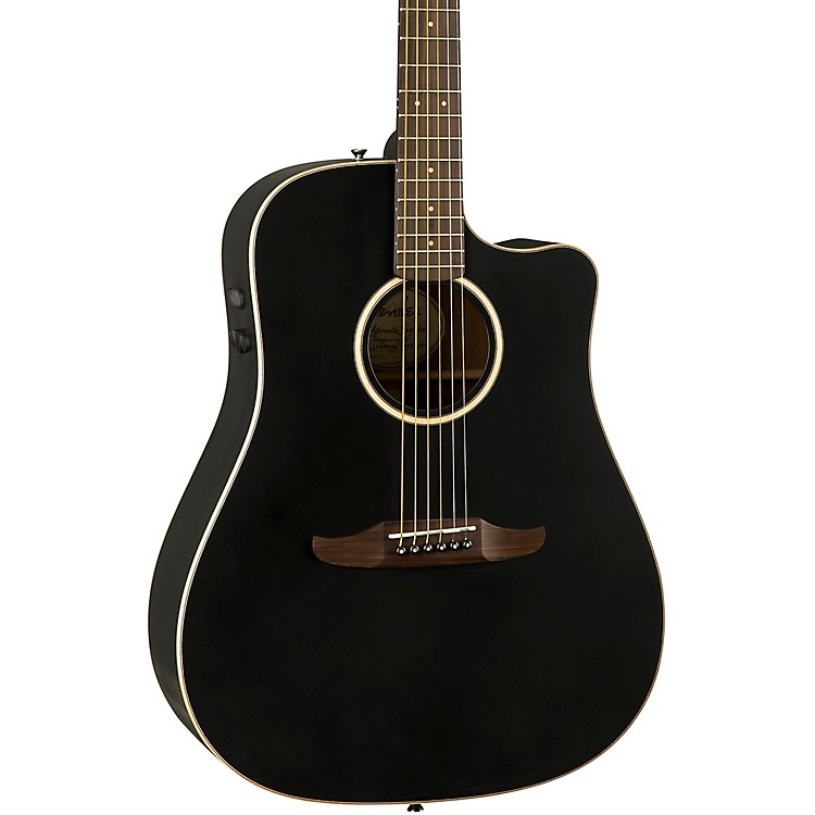 Fender California Redondo Special Acoustic-Electric Guitar Matte Black