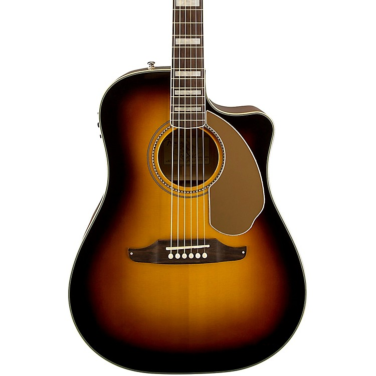 Fender California Series Kingman ASCE Cutaway Dreadnought Acoustic-Electric Guitar 3-Color Sunburst 190839008671
