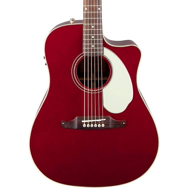 Fender California Series Sonoran SCE Cutaway Dreadnought Acoustic-Electric Guitar Candy Apple Red