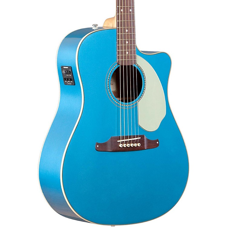 Fender California Series Sonoran SCE Cutaway Dreadnought Acoustic-Electric Guitar Lake Placid Blue