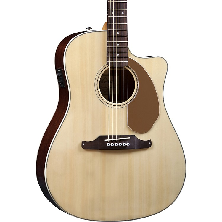 Fender California Series Sonoran SCE Cutaway Dreadnought Acoustic-Electric Guitar Sea Foam Pearl