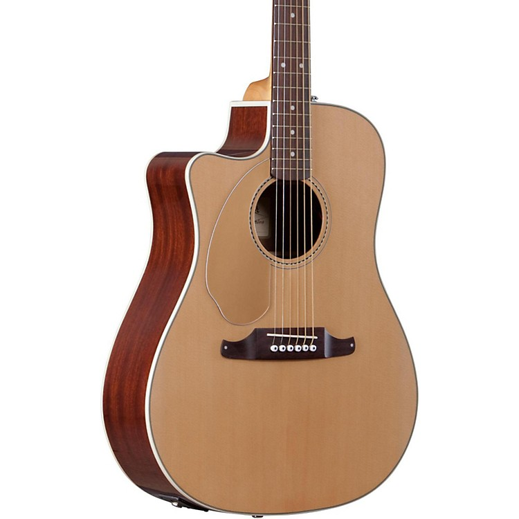 Fender California Series Sonoran SCE Cutaway Dreadnought Left-Handed Acoustic-Electric Guitar Natural