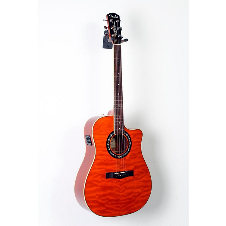 Fender California Series T-Bucket 300CE Cutaway Dreadnought Acoustic-Electric Guitar Amber 888365812915