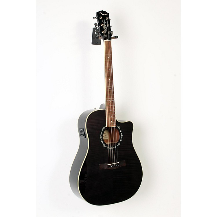 FenderCalifornia Series T-Bucket 300CE Cutaway Dreadnought Acoustic-Electric GuitarTransparent Black888365855028