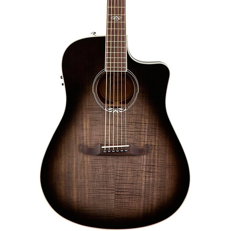 Fender California Series T-Bucket 300CE Cutaway Dreadnought Acoustic-Electric Guitar Transparent Cherry Burst