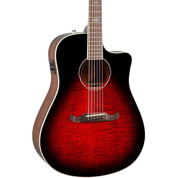 FenderCalifornia Series T-Bucket 300CE Cutaway Dreadnought Acoustic-Electric GuitarTransparent Cherry Burst