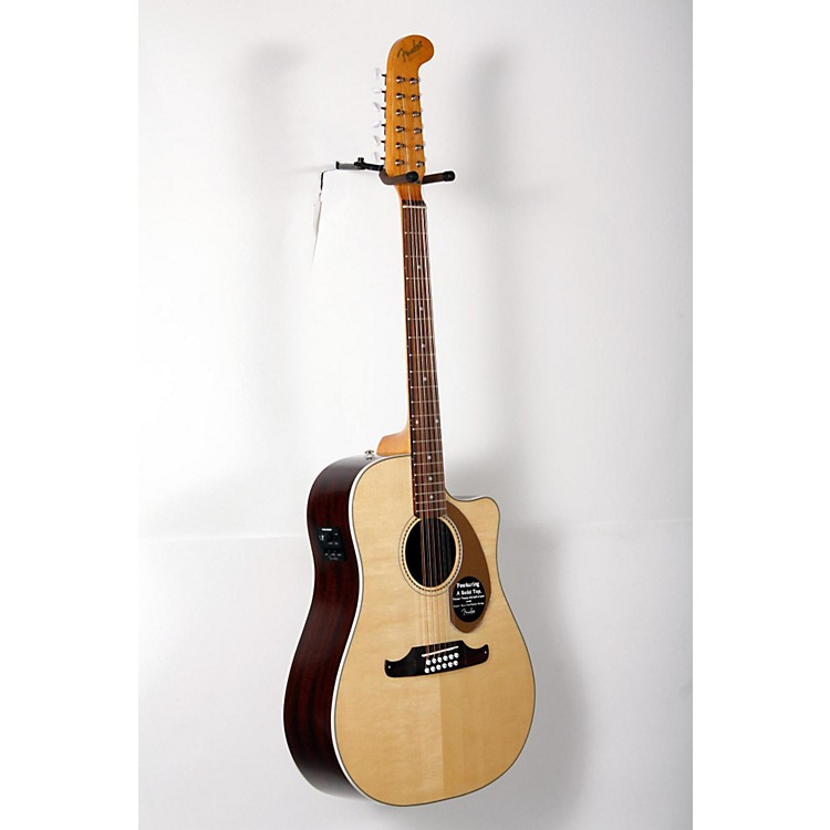 Fender California Series Villager SCE Cutaway Dreadnought 12-String Acoustic-Electric Guitar Natural 888365906539