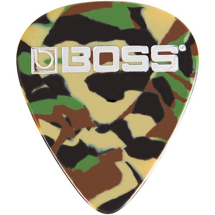 Boss Camo Celluloid Guitar Pick Medium 12 Pack