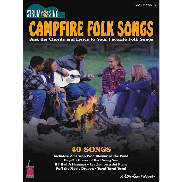 Cherry LaneCampfire Folk Songs - Strum & Sing Series for Easy Guitar