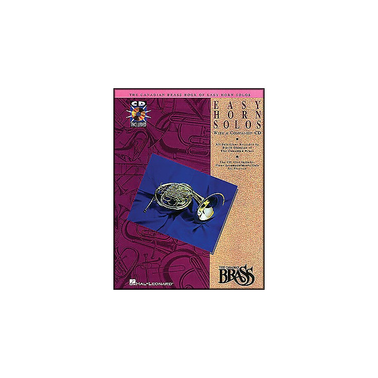 Hal Leonard Canadian Brass Book Of Easy Horn Solos Book/CD