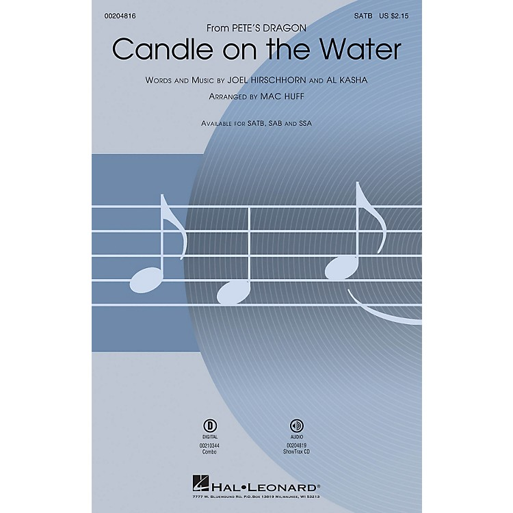 Hal LeonardCandle on the Water (from Pete's Dragon) ShowTrax CD Arranged by Mac Huff