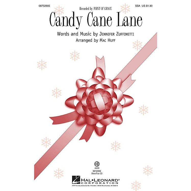 Hal Leonard Candy Cane Lane SAB by Point Of Grace Arranged by Mac Huff