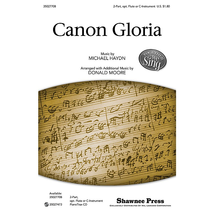 Shawnee PressCanon Gloria (Together We Sing Series) 2-PART arranged by Donald Moore