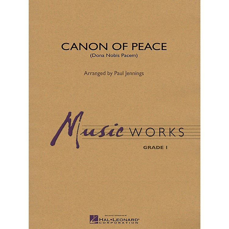 Hal LeonardCanon of Peace (Dona Nobis Pacem) Concert Band Level 1 Arranged by Paul Jennings