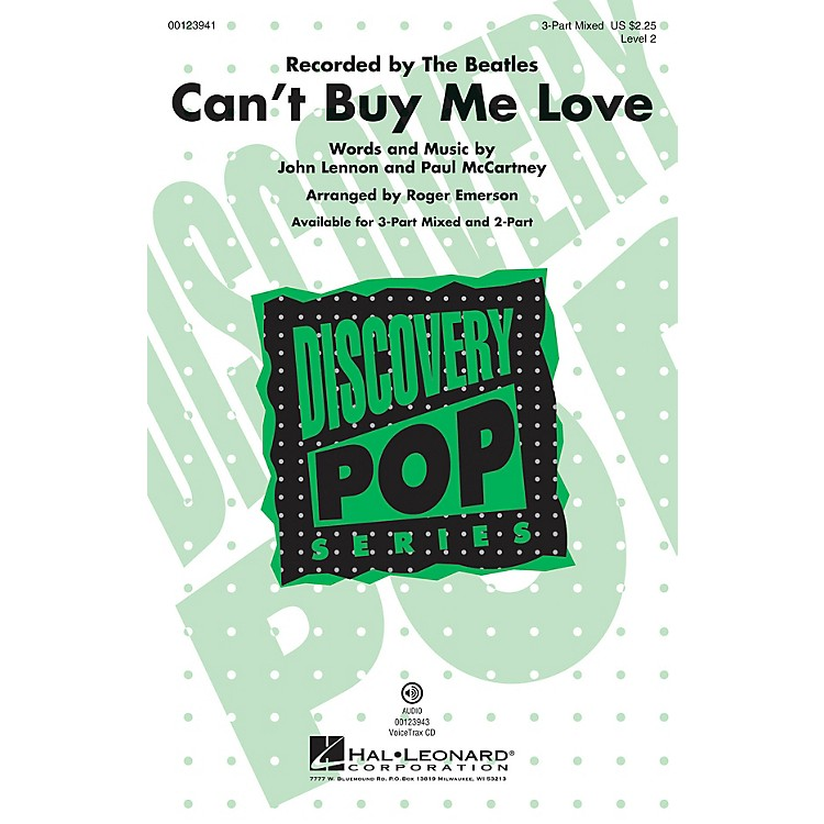 Hal Leonard Can't Buy Me Love VoiceTrax CD by The Beatles Arranged by Roger Emerson
