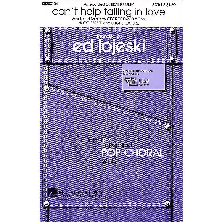 Hal LeonardCan't Help Falling in Love (SATB) SATB by Elvis Presley arranged by Ed Lojeski