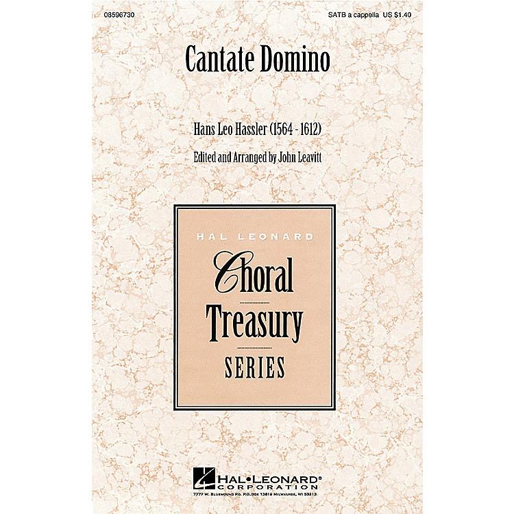 Hal LeonardCantate Domino SATB a cappella arranged by John Leavitt
