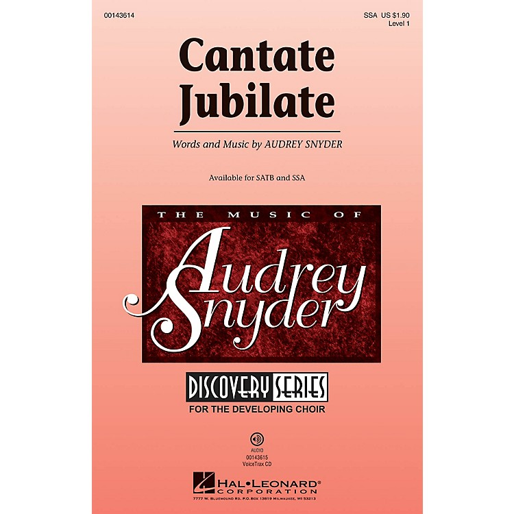 Hal LeonardCantate Jubilate (Discovery Level 1) SSA composed by Audrey Snyder