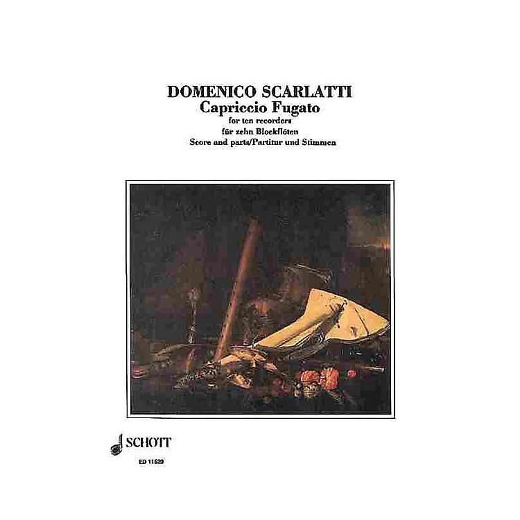 SchottCapriccio Fugato Recorders SAATB