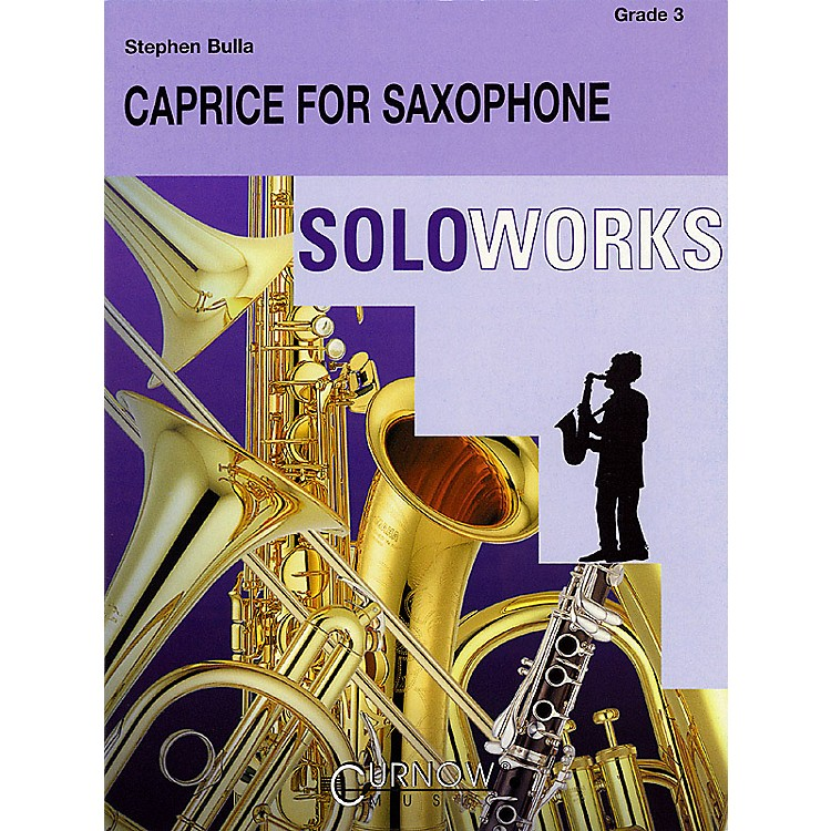 Curnow MusicCaprice for Saxophone (with Concert Band) (Grade 3 - Score Only) Concert Band Level 3 by Stephen Bulla