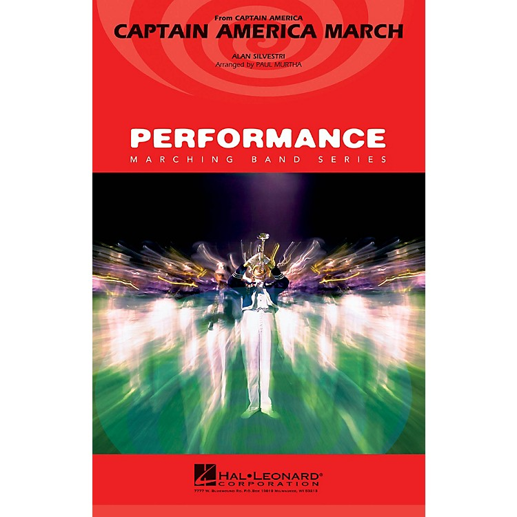 Hal LeonardCaptain America March Marching Band Level 3 Arranged by Paul Murtha