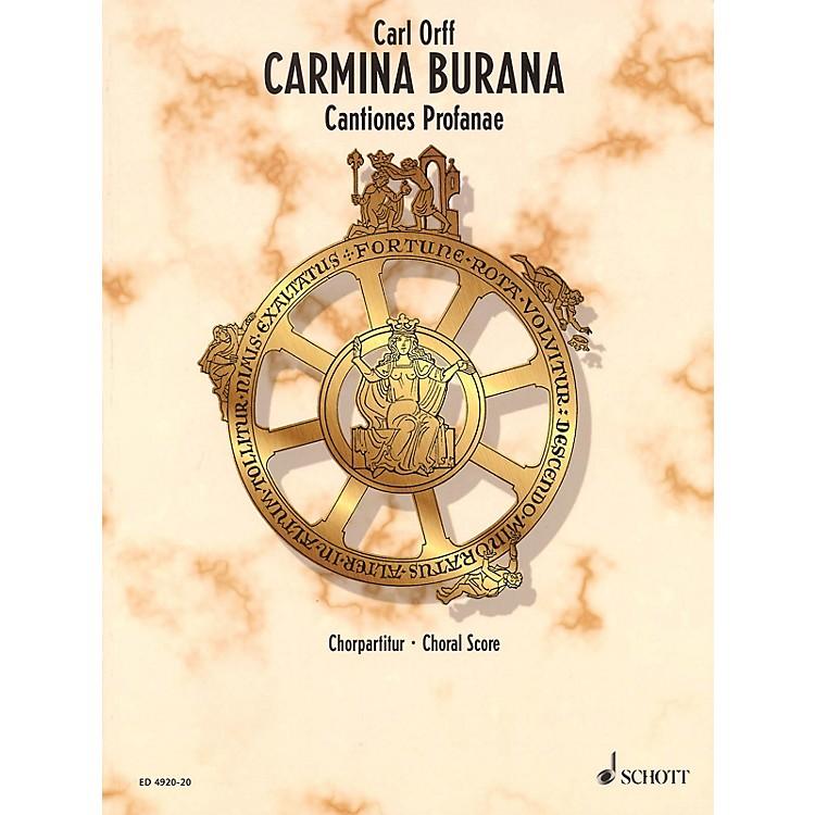 SchottCarmina Burana (Choral Score) Composed by Carl Orff