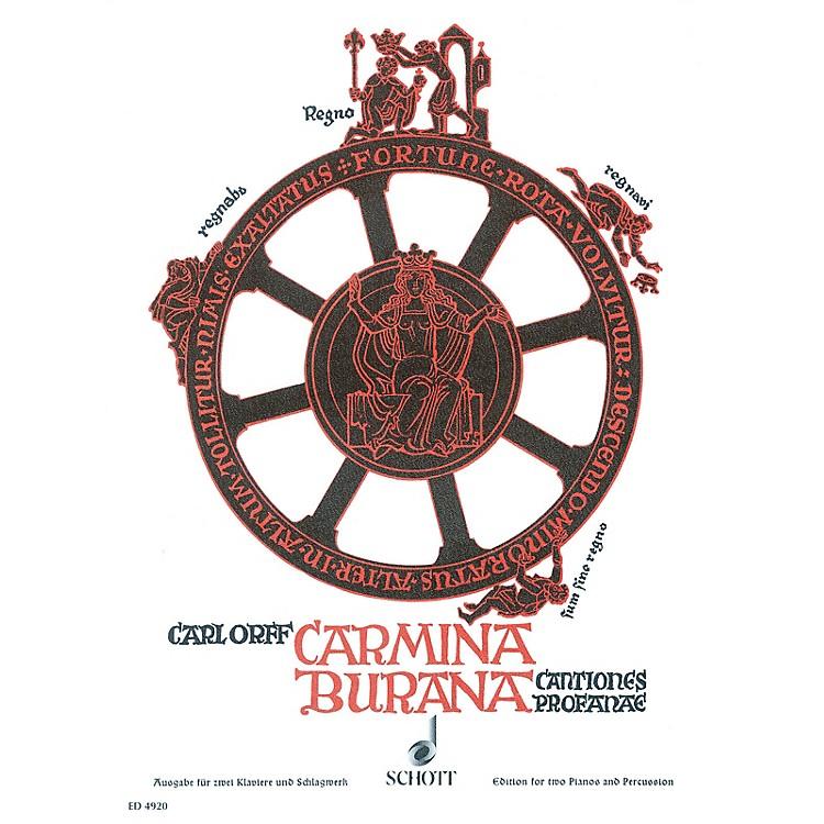 SchottCarmina Burana Score Composed by Carl Orff Arranged by Wilhelm Killmayer