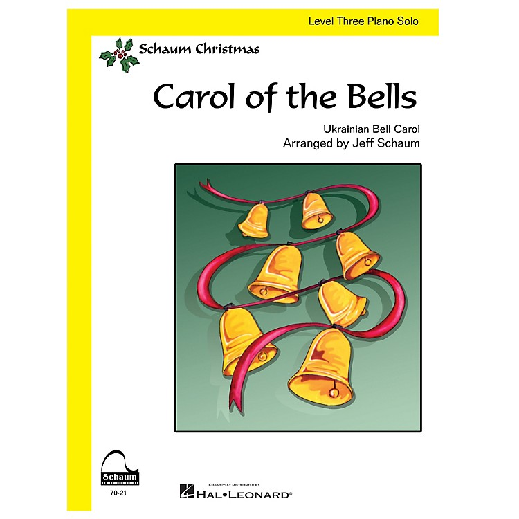 SCHAUM Carol Of The Bells (easy) Educational Piano Series Softcover