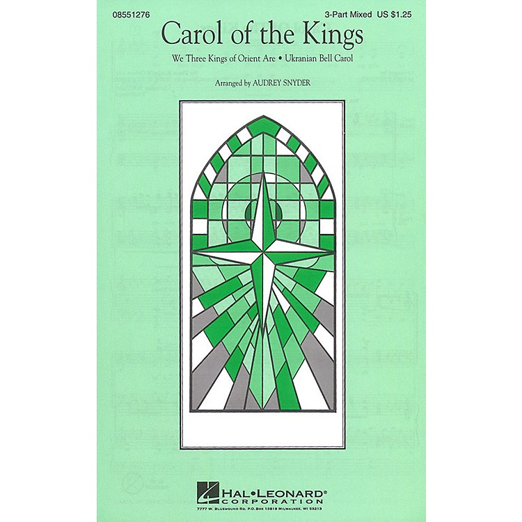 Hal Leonard Carol of the Kings 3-Part Mixed arranged by Audrey Snyder