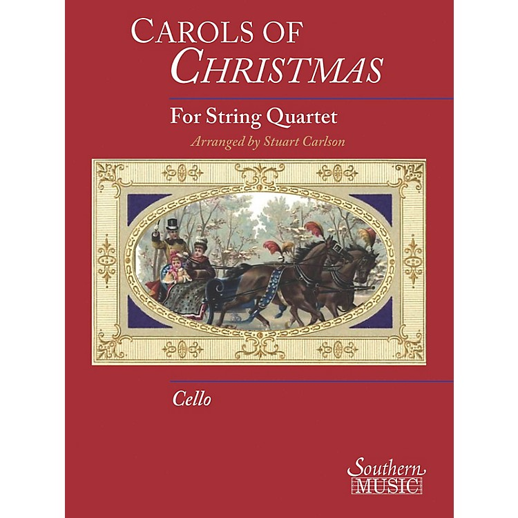 Hal LeonardCarols Of Christmas For String Quartet, Cello Book Only Southern Music Series