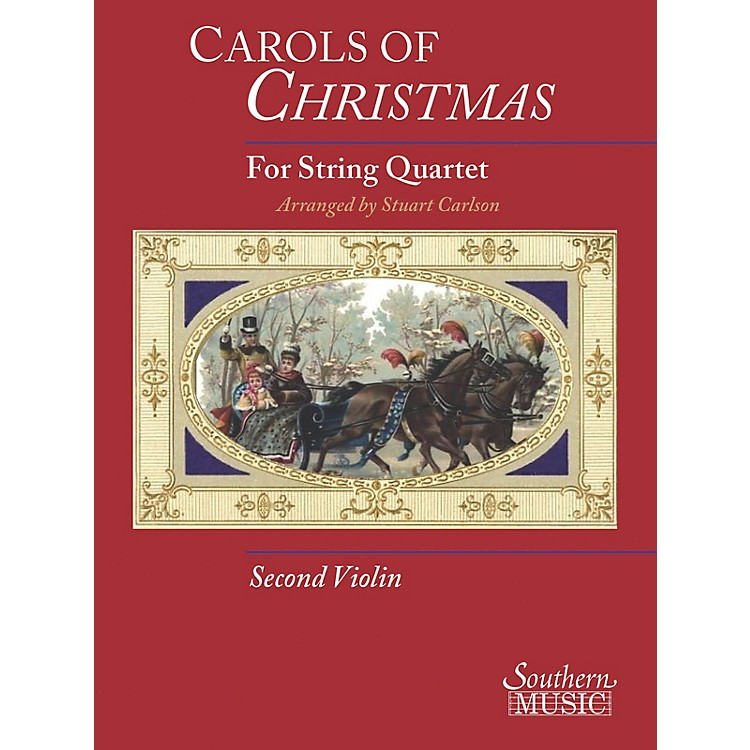 Hal LeonardCarols Of Christmas For String Quartet Violin 2 Book Southern Music Series