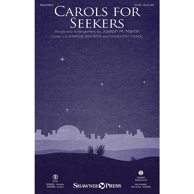 Shawnee Press Carols for Seekers Studiotrax CD Arranged by Joseph M. Martin