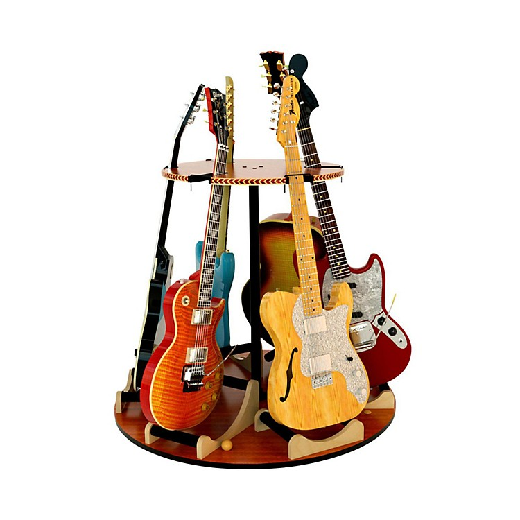 A&S Crafted Products Carousel Deluxe Multi-Guitar Stand Combined Unit