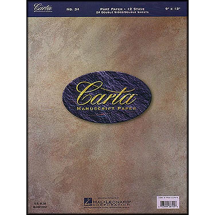 Hal LeonardCarta 34 Partpaper 9X12, Dbl Sided, 24 Sheet, 12 Stave Manuscript