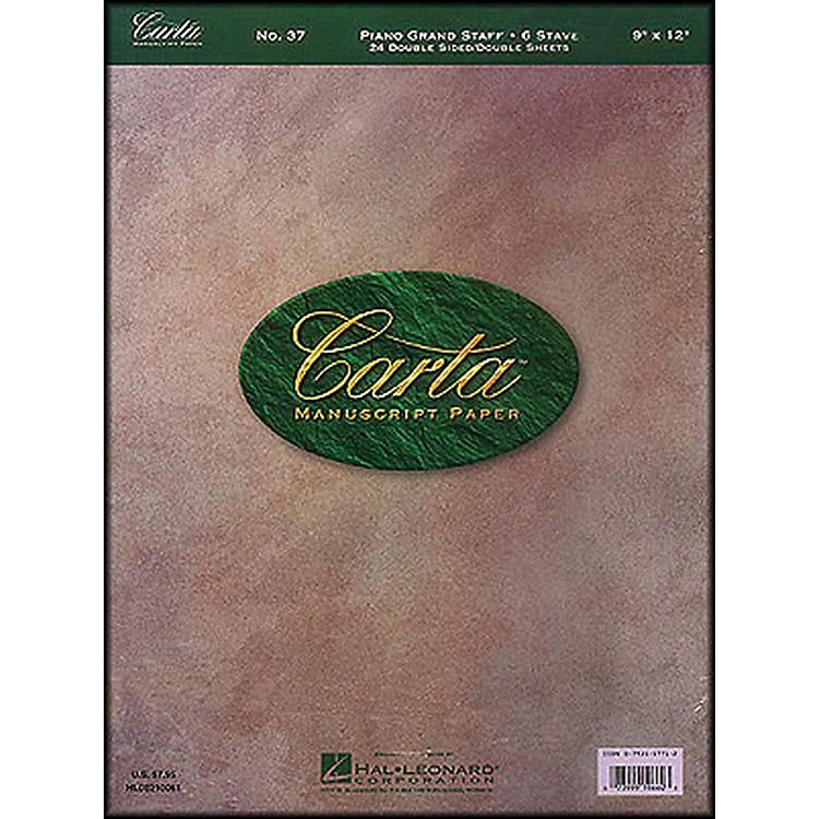 Hal LeonardCarta 37 manuscript 9X12, Dbl Sheet, Dblside, 24 Sheet, 6 Stave