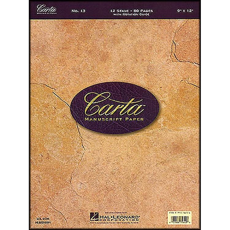 Hal LeonardCarta Manuscript 13 Writing Pad 9 X 12, 80 Pages, 12 Staves