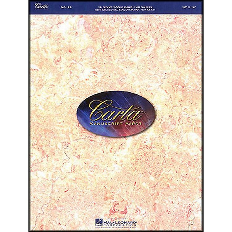 Hal LeonardCarta Manuscript 18 Scorepad 12 X 16, 40 Sheets, 16 Staves